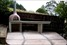 Wood-fired pizza oven, polished concrete bench-top, paving, landscaping, creative